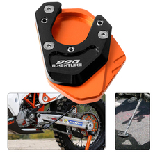 For KTM 990 Adventure 2006 2007 2008 2009 2010 2011 2012 2013 Kickstand Side Stand Extension Plate Pad  Enlarge Support Pad motorcycle cnc kickstand foot side stand extension pad support plate enlarge stand for ktm 950 supermoto 2006 2007 with logo