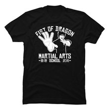 Cool Tops Tees Kungfu-Tshirt Martial-Arts Dragon Chinese Mens BJJ Shaolin Fist Jujitsu