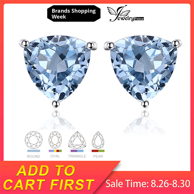 Jewelrypalace Peridot Gemstone Stud-Earrings Solitaire Citrine 925-Sterling-Silver Topaz