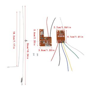 4CH RC Remote Control 27MHz Circuit PCB Transmitter and Receiver Board with Antenna Radio System for Car Truck Toy(China)