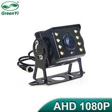 HD AHD 1280*720P Starlight gece görüş 8 LED araç dikiz ters yedekleme AHD kamera ile 10M 15M 20M Video kablosu