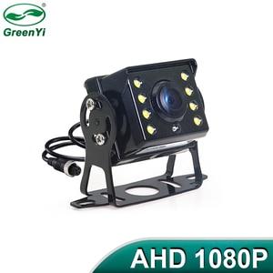 Image 1 - Hd ahd 1280*720p starlight visão noturna 8 led visão traseira do carro reversa câmera de backup ahd com 10m 15m 20m cabo vídeo