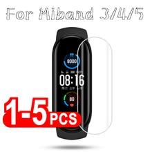 Film de Protection Hydrogel pour Mi Band 5 4 3, Protection décran, pas en verre trempé pour Xiaomi Band 4/5/3