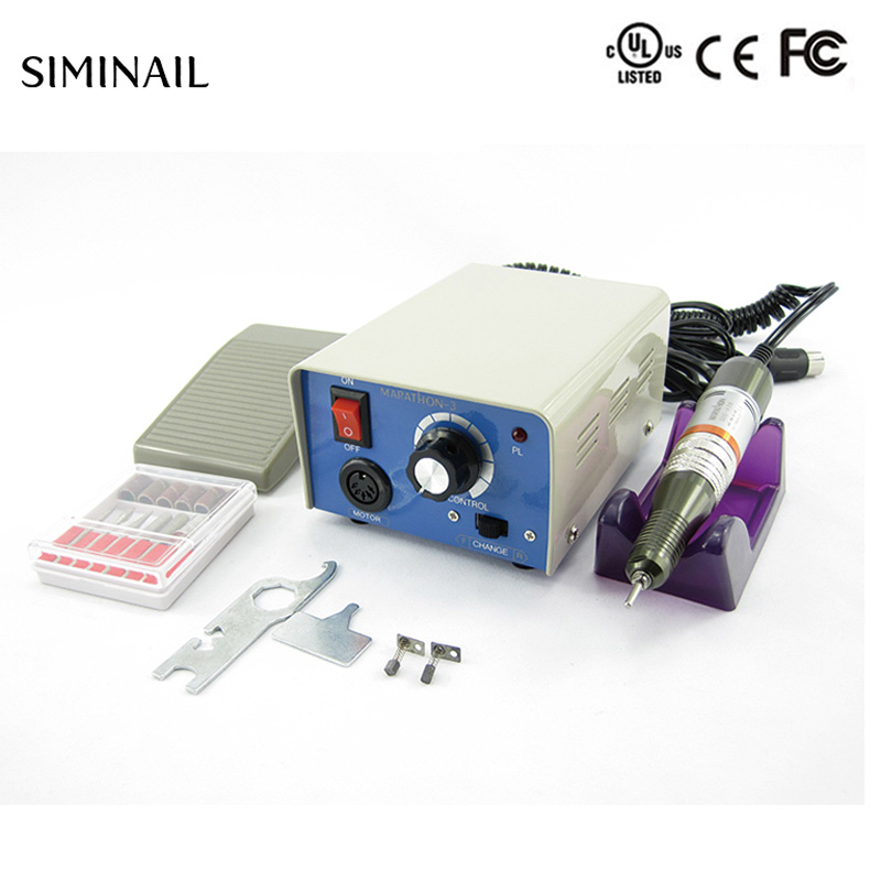 Electric nail drill machine 35000rpm strong 210 professional manicure nail drill 65w handpiece 6 bits set SIMINAIL