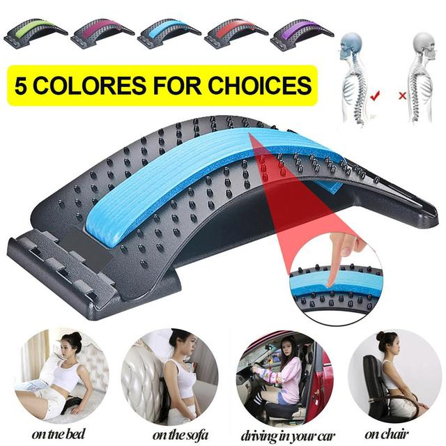 1pc Back Stretch Equipment Massager Magic Stretcher Fitness Lumbar Support 6