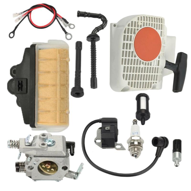 For Stihl MS230 MS250 021 023 025 MS210 Carburetor Recoil Starter Spark Plug Kit