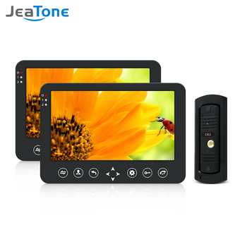 Jeatone Video Doorbell Home Intercom Video Door Phone 960P Waterproof Doorbell Camera with 2x 10 inch Monitor Video Intercom Kit homsecur 7 video door phone intercom doorbell home security camera monitor rfid keyfobs with eelectric lock