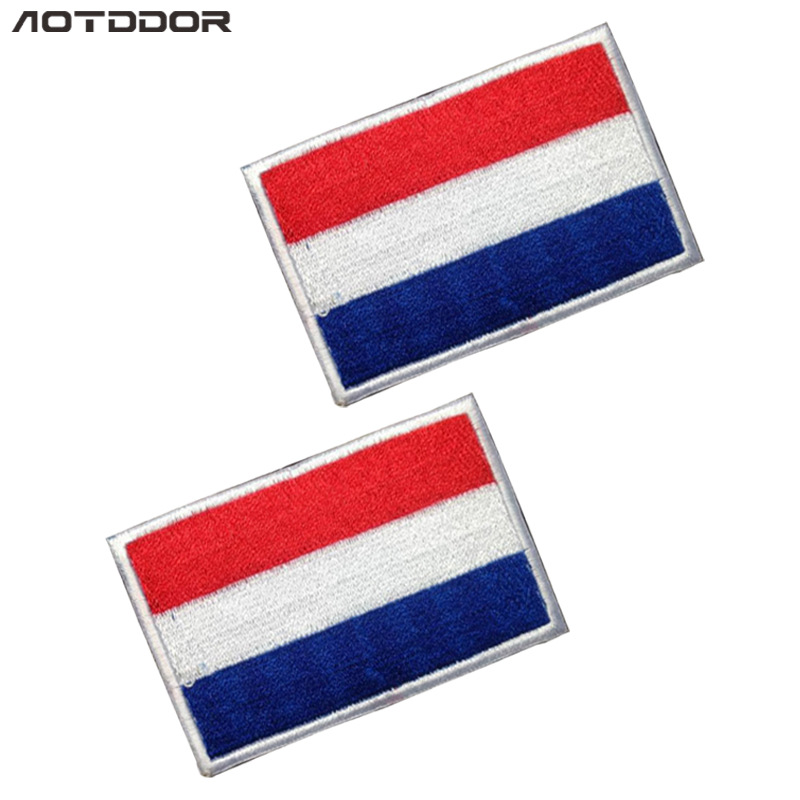 Europe Flag Holland Shoulder Emblem Embroidered Velcro Pack Posted Cloth Label