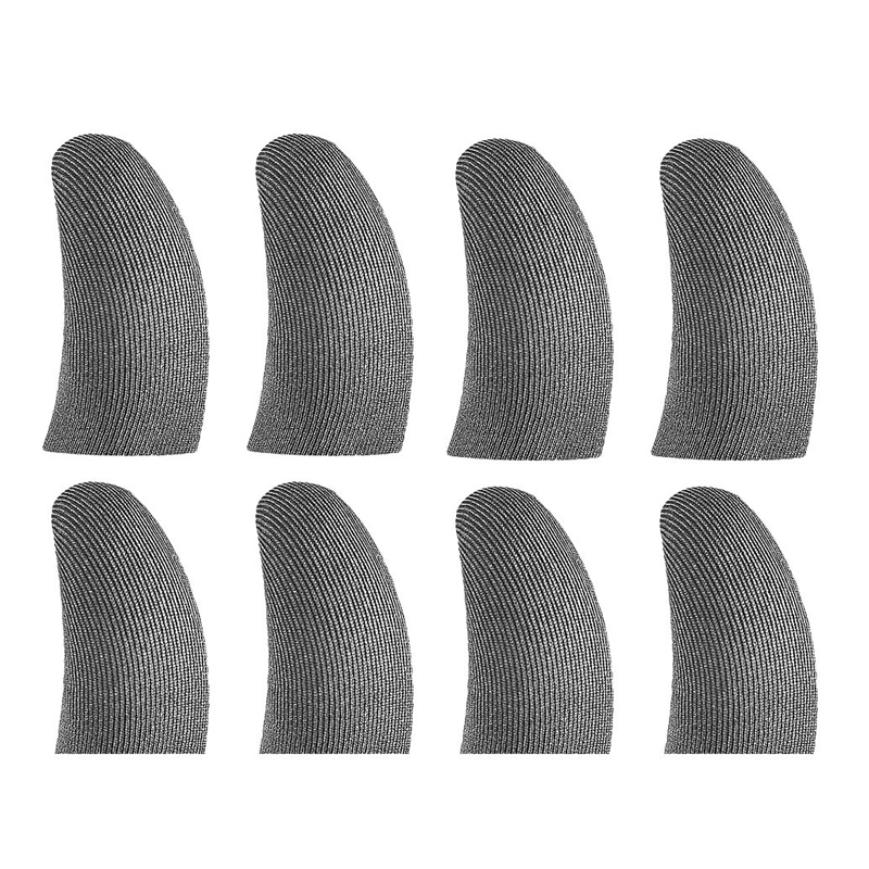 Finger Sleeves For Gaming Mobile Game Contact Screen Finger Cot Smooth Thin Anti-Sweat For Mobile Games(8 Pcs)