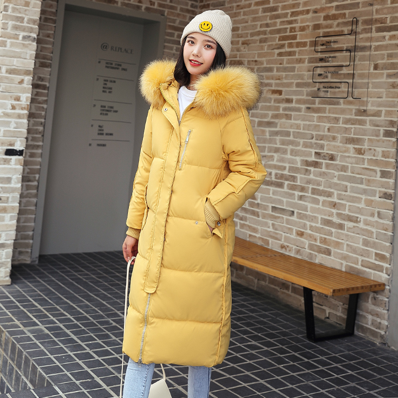 Womens Jackets Ladies Coat Padded Parka Long-Coats Thicken Fashion Cotton Warm Slim New-Arrival