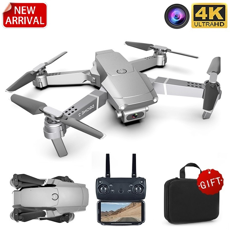 FPV Camera Toy Quadcopter Drones-Height Gift RC Wifi Foldable E68pro Mode Mini 1080P
