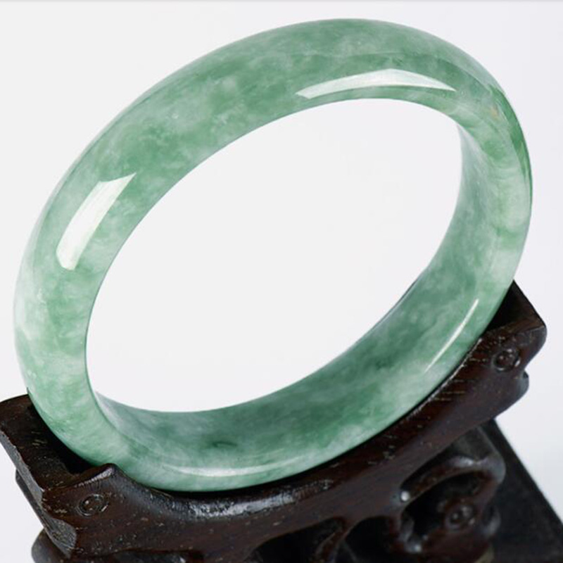 Jadery 100% Grade A Natural Emerald Jade Bangle Women Handmade Carved Gemstone Bracelets & Bangles Party Fine Jewelry Drop Ship
