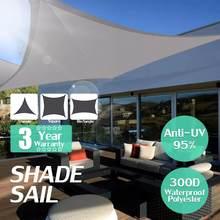 Sombra retângulo quadrado oxford cinza à prova d' água, jardim, cobertura, natação, áreas externas, acampamento, quintal, vela