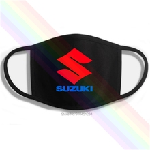 Mouth-Mask Suzuki Printing Washable Cotton Motor-Logo Classic Black