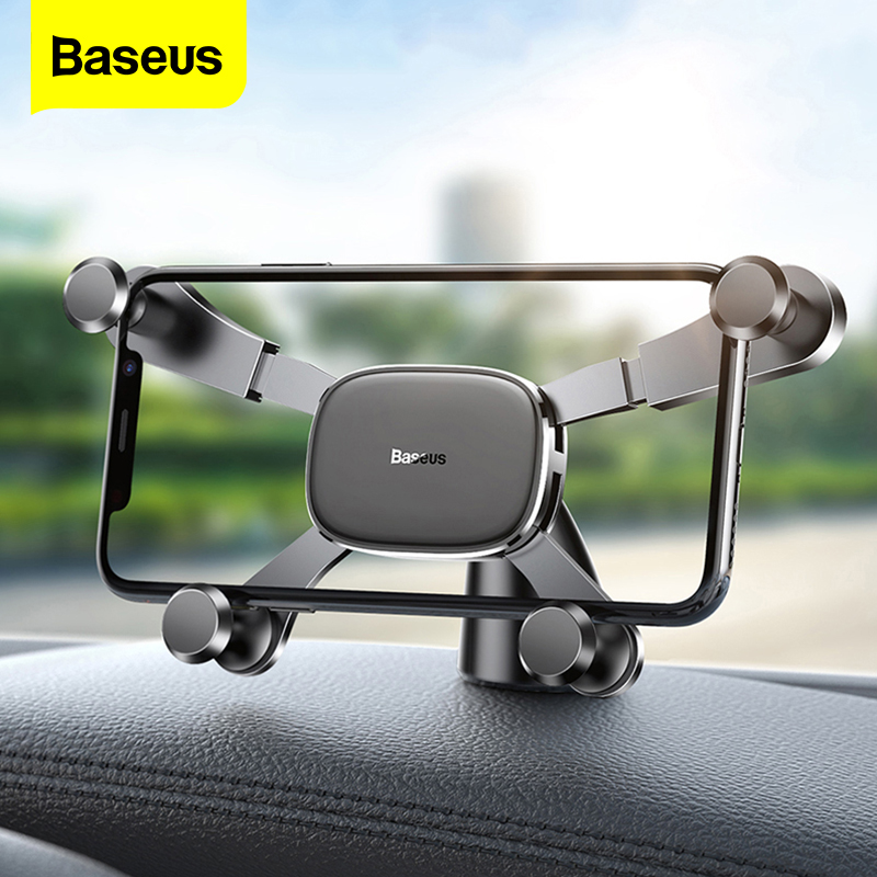Baseus Dashboard Car Phone Holder For IPhone 11 Pro Xs Max Samsung Gravity Car Holder For Phone In Car Mount Mobile Holder Stand