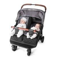Twin Stroller Light Can Sit Lie Four wheel Shock Newborn Baby  Trolley|  -