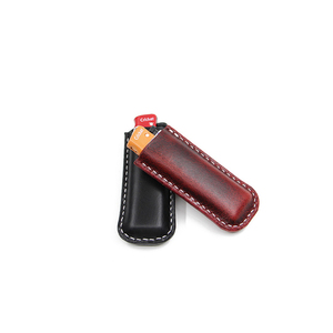 Genuine Leather Handmade Cricket Lighter Leather Case Creative Individual Lighter Case Smoking Cigarette Accessories