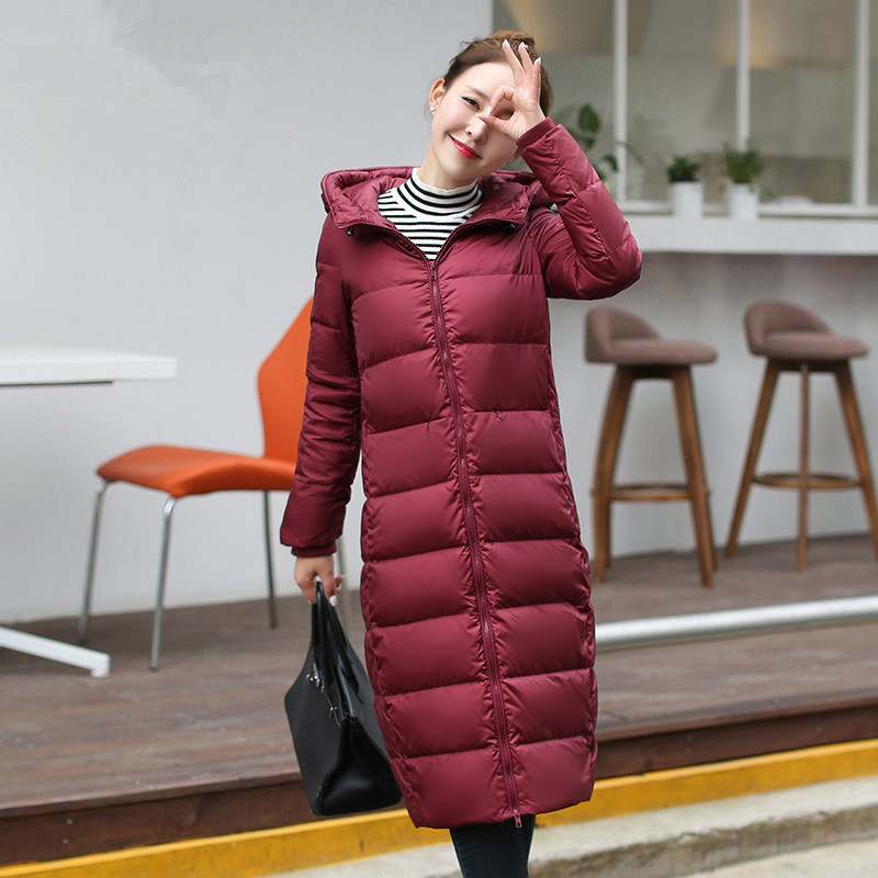 Winter Women's 2020 Jackets 90% White Duck Down Jacket Hooded Long Warm Woman Coat Abrigos Mujer Invierno 1166039