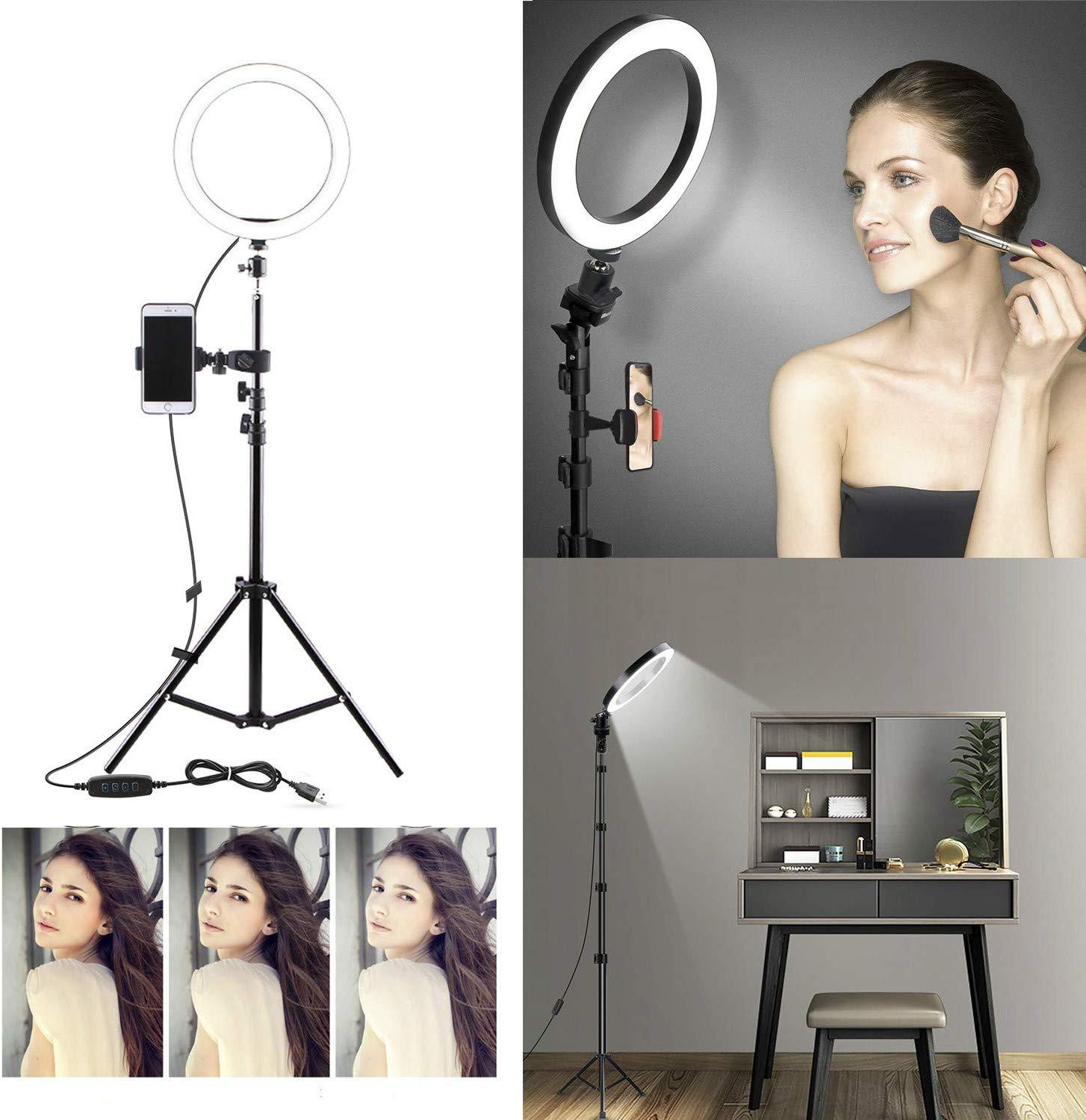 Selfie Light Ring With IPhone Tripod And Phone Holder For Video Photography Makeup Live Streaming YouTube Lighting