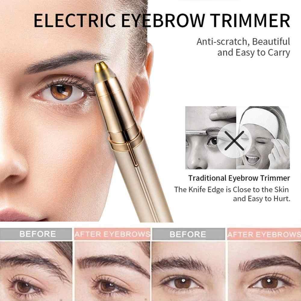1pc 電気眉毛トリマーメイク無痛目眉脱毛器ミニシェーバーカミソリポータブルひげリムーバードロップシッピング