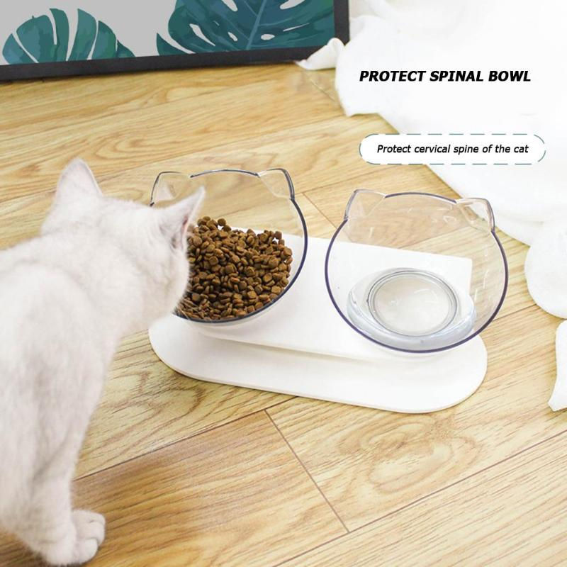 Non-slip Cat Bowls Double Bowls With Raised Stand Pet Food And Water Bowls For Cats Dogs Feeders Pet Double Drinking Bowls