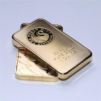 Wholesale 5PCS/lot Free shipping 1 oz Perth Mint Gold Bar (Non-magnetic) 10pcs lot 2016 australia 1 oz silver coin mint 1 oz 999 sliver australia wedge tailed eagle good quality copy sliver coin