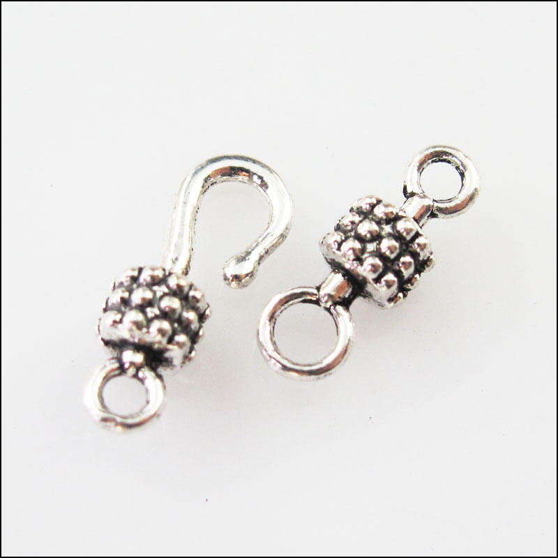 10Sets Silver Tone Hook Toggle Clasps 15x38mm Wholesale