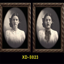 цена на New Halloween 3D Ghost Photo Frame Horror Pictures Frames Changing Face Ghost Party Decor Halloween Decoration Props 4