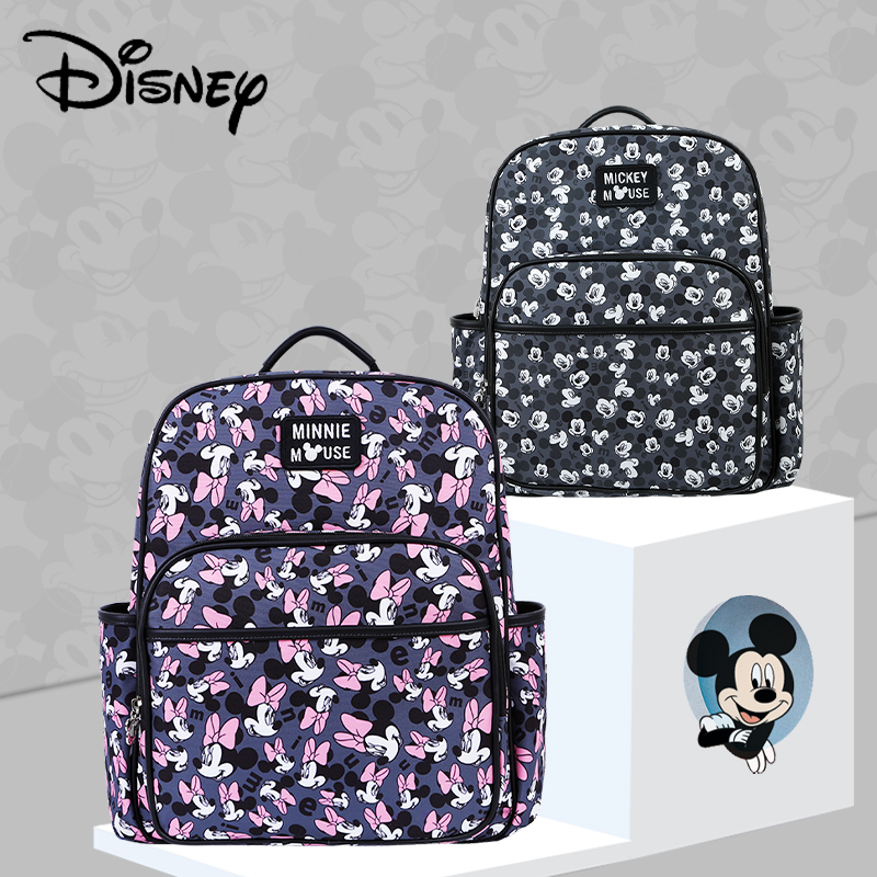 Disney Colorful Cute Minnie Mickey USB Diaper Bag Nappy Bag For Baby Care Large Capacity Waterproof Mummy Handbag Send Free Hook
