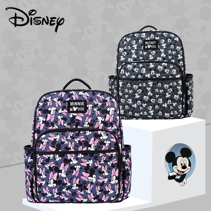 Disney Colorful Cute Minnie Mickey USB Diaper Bag Nappy Bag For Baby Care Large Capacity Waterproof Mummy Handbag Send Free Hook