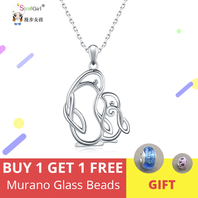 925 Sterling Silver Penguin Family Charm Mom Dad Baby Pendant Engraved NEW
