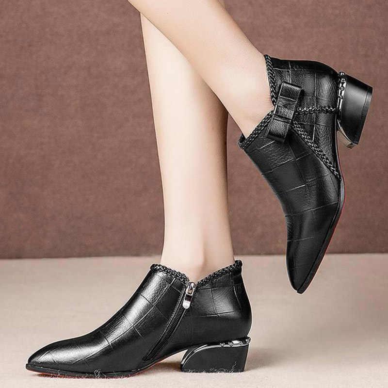 Plus Größe 35-42 Frauen Kleid Schuhe Spitz Oxford Schuhe Frau Bare stiefel Schwarz Gold Heels Bogen Damen schuhe Marke Weiß N7879