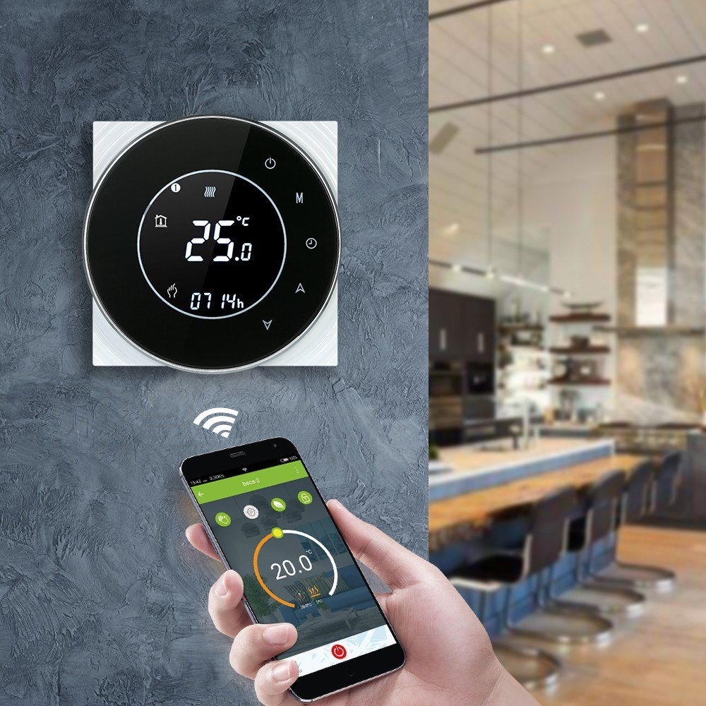 Digital Wifi Thermostat 220V 16A Electric Floor Heating Wireless Smart Temperature Controller Alexa Google Home APP Switch