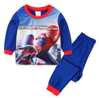 Primavera y otoño niños niñas pijama niño ropa interior pijamas conjunto 100% de algodón niños pijamas de manga larga traje enfant