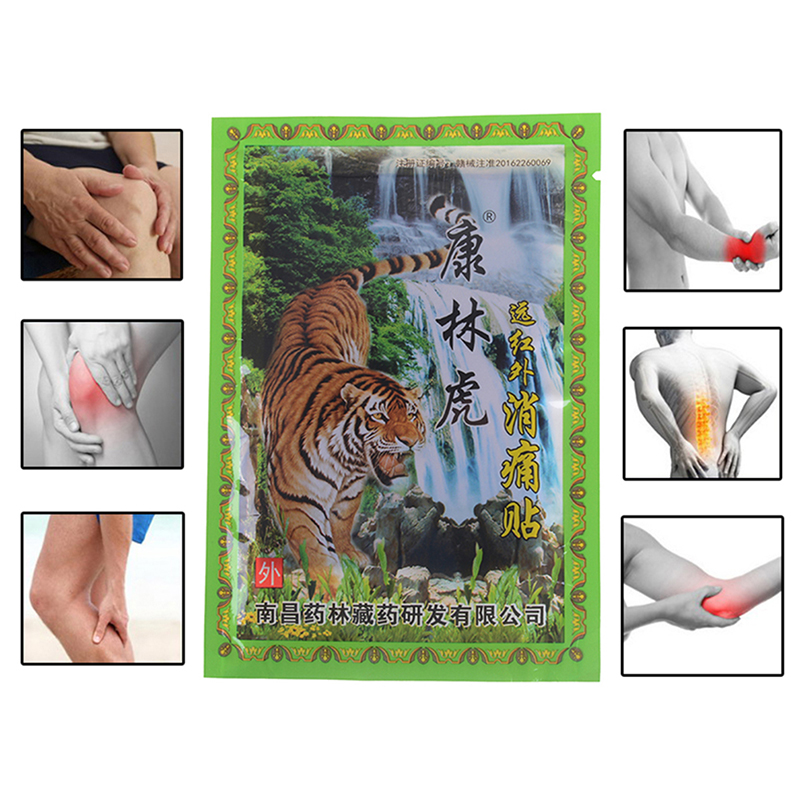 8Pcs/Bag Tiger Balm Joint Pain Patch Neck Back Body Pain Relaxation Pain Plaster Killer Relax