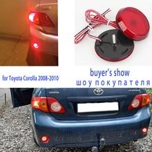 цена на 2 Pcs Car LED Tail Rear Bumper Reflector lamp Round Brake Stop Light Warning light for Nissan/Qashqai/Trail/Toyota/Corolla