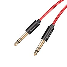цена на 6.5mm Jack Audio Cable Nylon Braided 6.35 Jack Male to Male Stereo Audio Cable for Guitar Mixer Amplifier Bass 6.35 Audio Cable