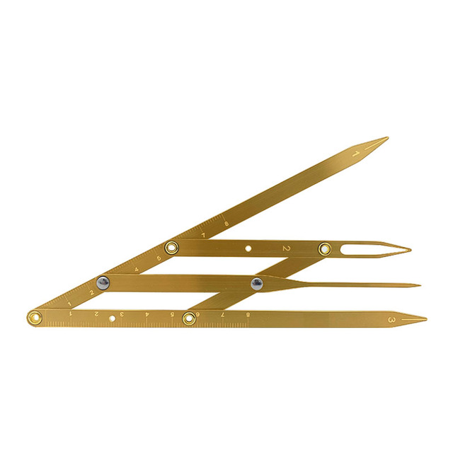Golden Ratio Calipers Microblading Eyebrow Ruler with Flexible Removable Reusable Stainless Steel Ruler Eyebrow Calipers Measure 5