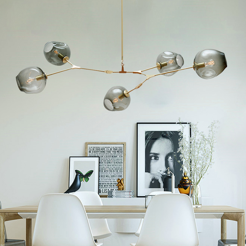 Vintage Loft Industrial Pendant Lights Black Gold Retro Pendant Lamps For Bar Stair Dining Room