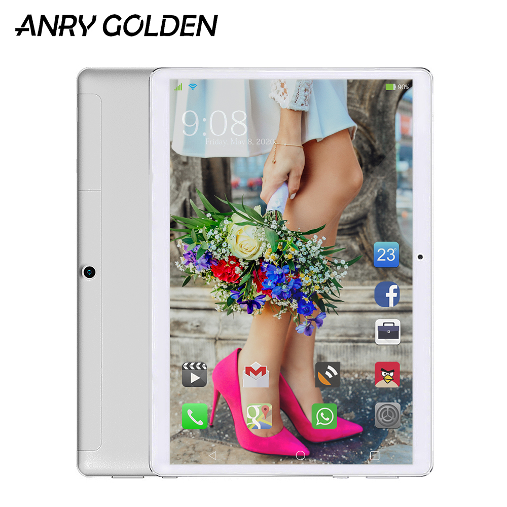 ANRY 10 Inch Deca Core Dual 4G LTE Phone Tablets 4GB RAM 64GB ROM MT6797 GPS Android 8.1 Tablet PC 8000mAh Google Play WIFI