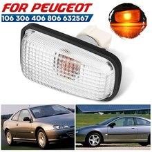 1/2pc 12v lado marcador luz repetidor lâmpada apto para peugeot 106 306 406 806 632567 peças do carro transformar lâmpadas de sinal luz