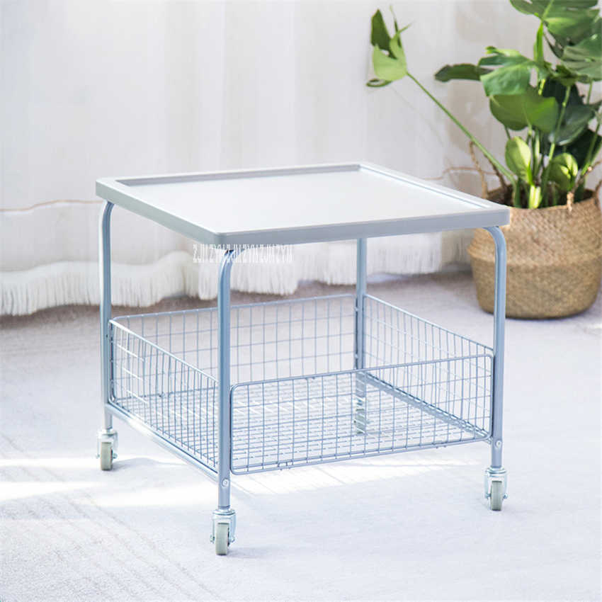 Modern Double Layer Trolley Side Table