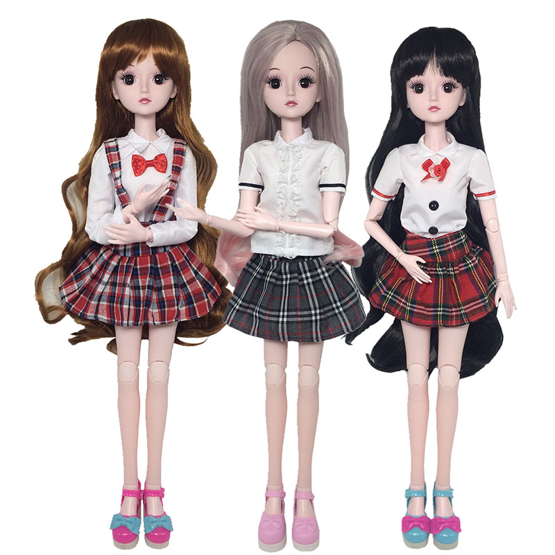 60cm BJD Dolls 23 Moveable Jointed With Body With Shoes Fashion Dolls Christmas Birthday Gift Early Childhood Educational Toys