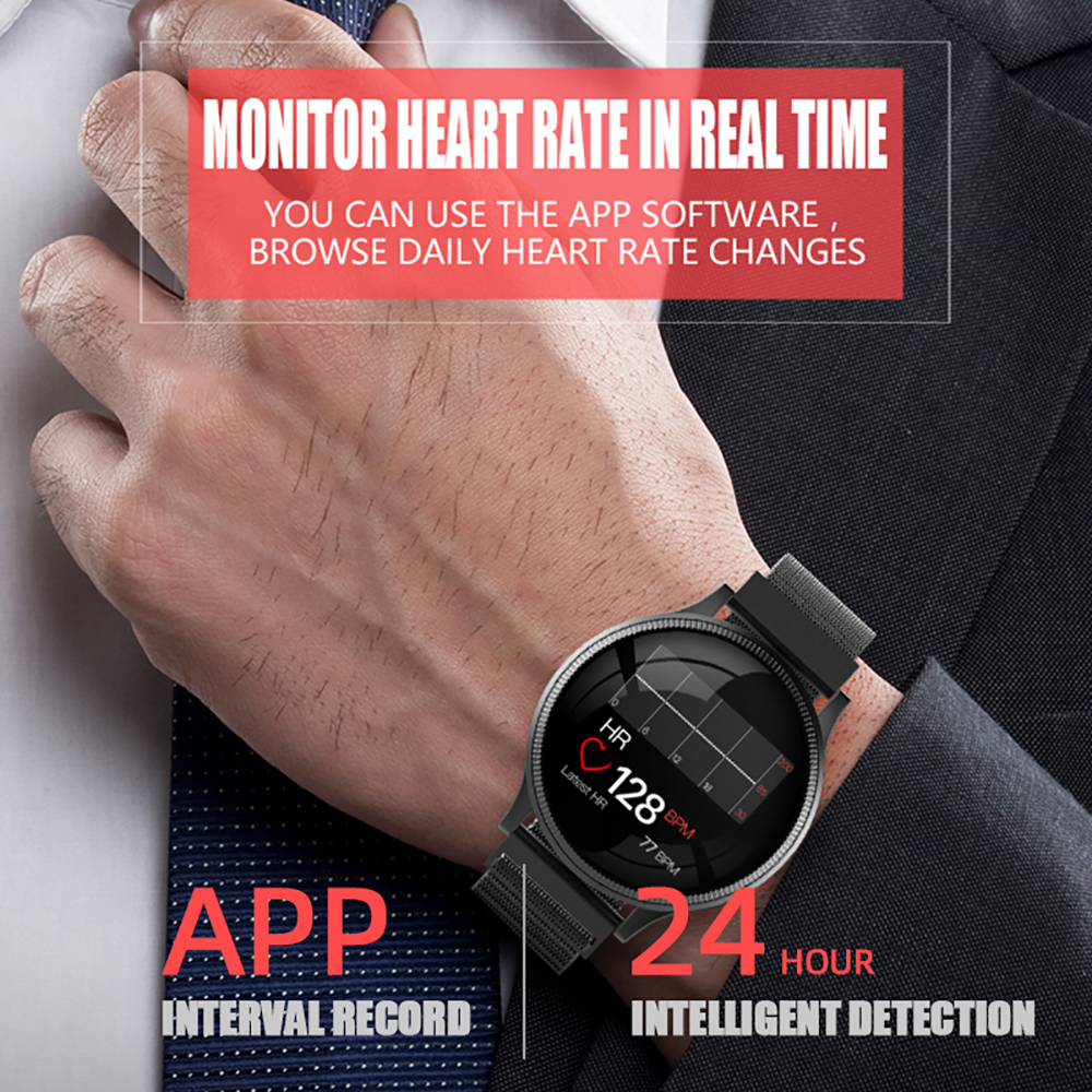 Sports Health Smart Watch 1.22 inch Magnetic Strap Fitness Tracker IP67 Waterproof Heart Rate Monitor Smartwatch for IOS Android (11)