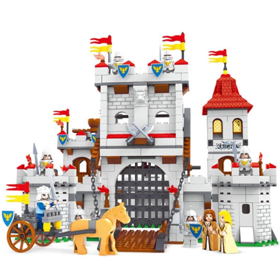 27110  Building Kits Compatible With Legoinglys Knights Castle 1118pcs 3D Blocks Educational Model Building Toys Children Gift
