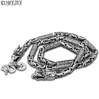 Dragon Necklace Handcrafted Vintage 990 Silver Dragon Necklace Pure Silver Tibetan OM Mantra Dragon Necklace Man Necklace