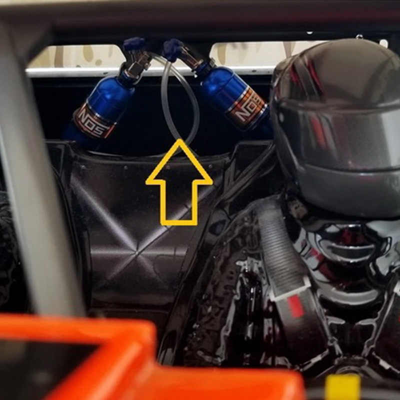 Metal simüle NOS azot şişesi 1/10 RC paletli araba TRX4 Defender Bronco RC4WD D90 D110 eksenel Scx10 90046, mavi