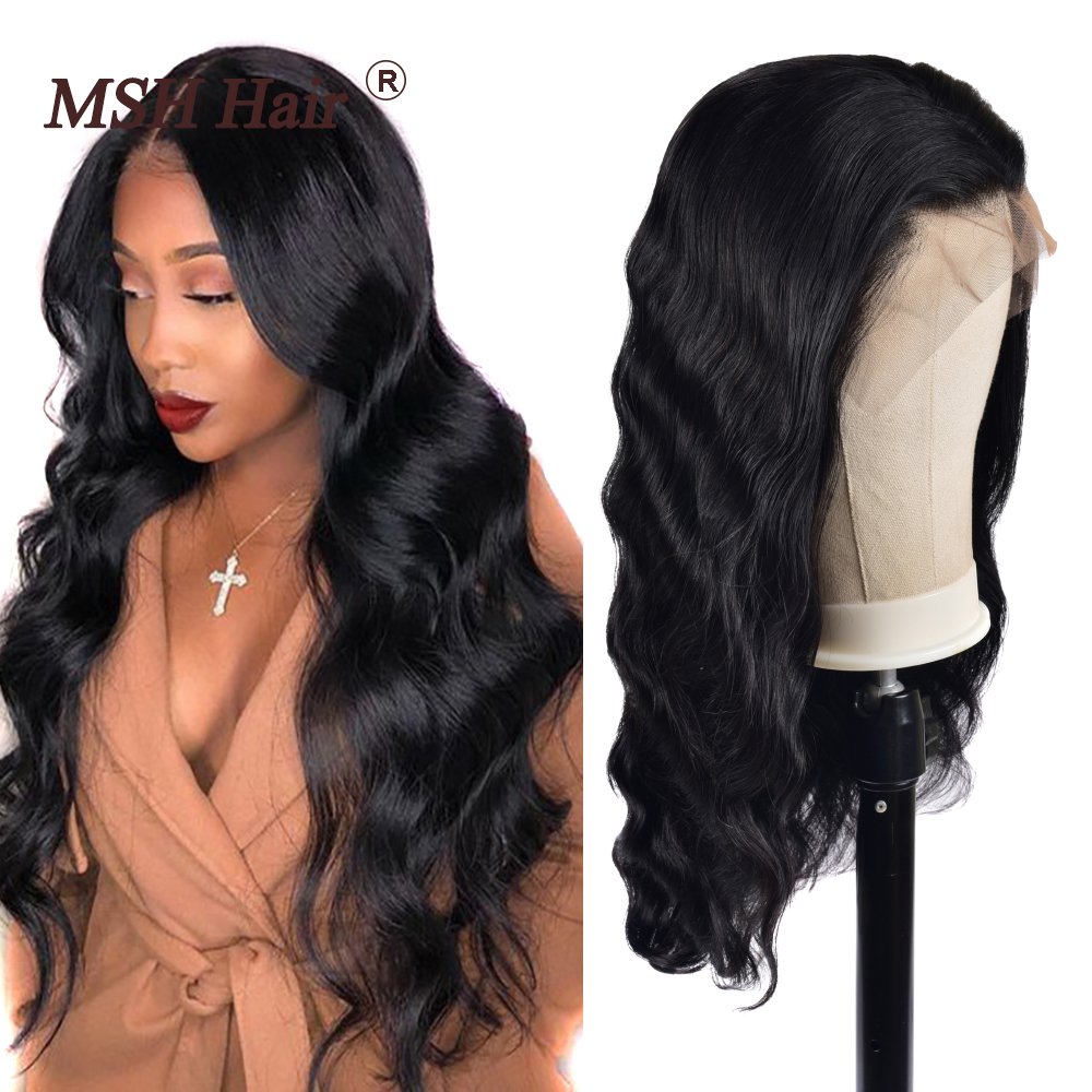 MSH Hair Lace Front Wigs 13x4 Brazilian Body Wave Human Hair Wigs 150% Density Remy Pre Plucked With Baby Hair For Black Women