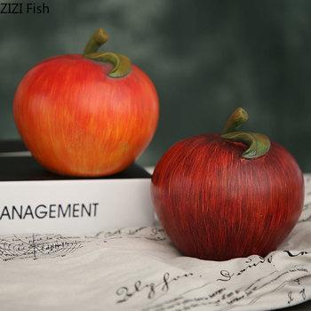 Ozdoby ze sztucznymi owocami ozdoby z wieloma stylami sztuczne jabłko gruszka figurki z żywicy dekoracja biurka ozdoby do dekoracji wnętrz tanie i dobre opinie CN (pochodzenie) PLANT Duszpasterska Żywica
