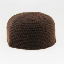 Зимние мусульманские шляпы для молитв для мужчин ислам Регулируемая теплая шерсть ручная работа вязание ислам ic одежда арабский человек шапка-тюрбан